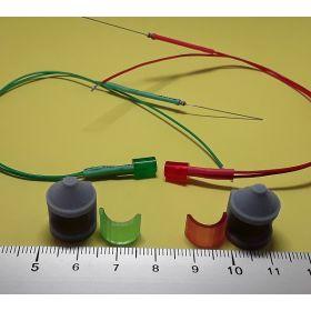 Kit fanal feux de position gris 8x12mm et leds câblées