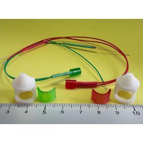 Kit fanal feux de position blanc 14x20mm et leds câblées