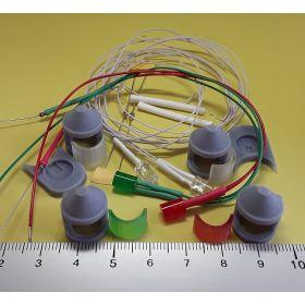 Kit fanal feux de position et mât gris 14x20mm et leds câblées