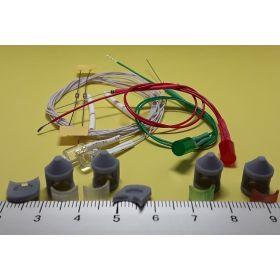 Kit fanal feux de position et mât gris 8x12mm et leds câblées