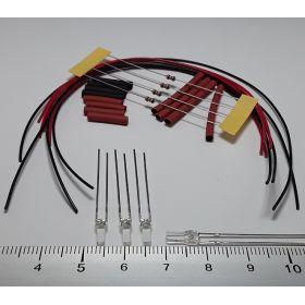 Led 2mm carré blanc chaud à câbler - par sachet de 4