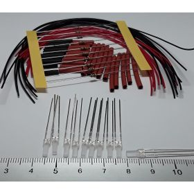 Led 2mm carré rouge à câbler - par sachet de 10