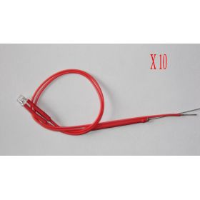 Led Tube Cylindrique 3mm Court Rouge  - Par sachet de 10