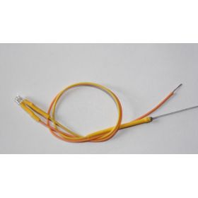 Led Tube Cylindrique 3mm Court Jaune Ambre
