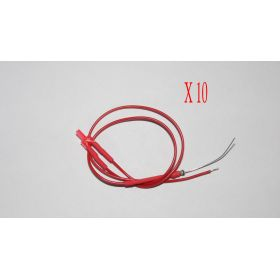 Led Canon Long 2mm Rouge Diffusant - Par sachet de 10