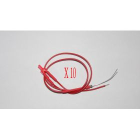 Led Canon Long 2mm Clignotante Rouge Diffusant - Par sachet de 10