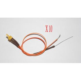 Led Canon Long 2mm Clignotante Orange Diffusant - Par sachet de 10