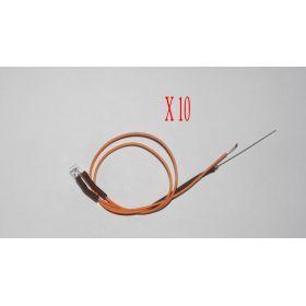 Led Rectangulaire 3x2mm Orange - Par sachet de 10