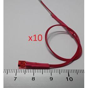 Led rectangulaire 3x2mm rouge diffusant - par sachet de 10