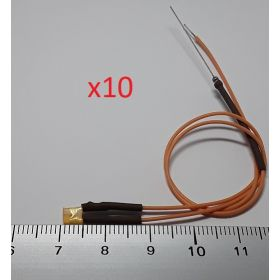 Led rectangulaire 3x2mm orange diffusant - par sachet de 10
