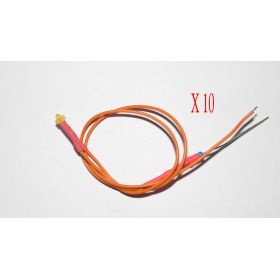 Led 1,8mm Orange Diffusant - Par sachet de 10
