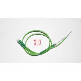 Led 1,8mm Clignotante Vert - Par sachet de 10