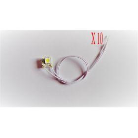 Micro led sur platine 12 volts blanche interieur maquette - par sachet de 10