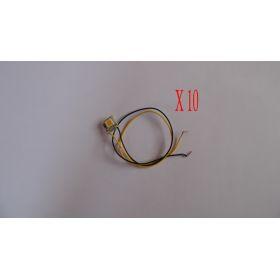 Micro Led  50/50 Sur Platine 12 Volts Blanc Chaud Interieur Maquette - par sachet de 10