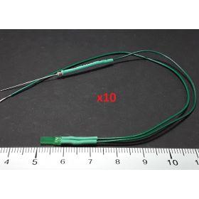 Led 2mm carré vert diffusant - par sachet de 10