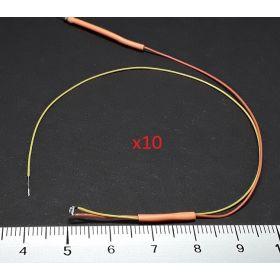 Micro led type A jaune ambre - par sachet de 10