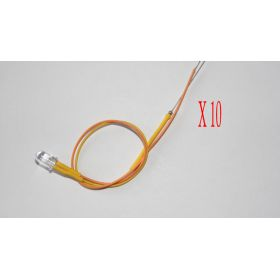 Led 5mm Jaune Ambre - Par sachet de 10