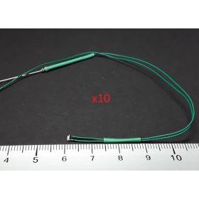 Micro led clignotante type A vert - par sachet de 10