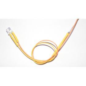 Led Tube Cylindrique 5mm Jaune Ambre