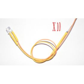 Led Tube Cylindrique 5mm Jaune Ambre - Par sachet de 10