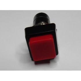 Interrupteur Poussoir Carre Noir/rouge