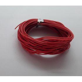 Bobine fil électrique 0.14mm Rouge 10m