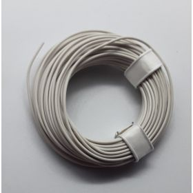 Bobine fil électrique 0,14mm blanc 10m