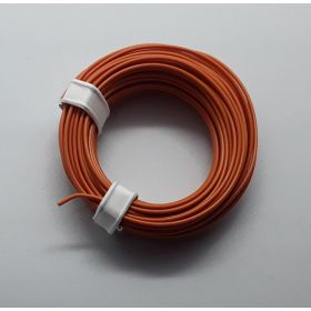 Bobine fil électrique 0,14mm orange 10m