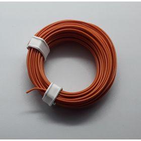 Bobine fil électrique 0,14mm orange 10m