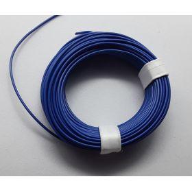 Bobine fil électrique 0,14mm bleue 10m