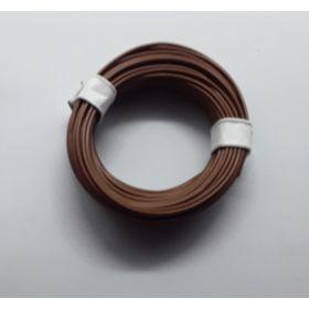 Bobine fil électrique 0,14mm marron 10m