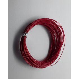 Bobine fil électrique 0,5mm rouge 10m