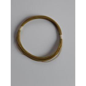 Bobine fil électrique 0,5mm jaune 10m