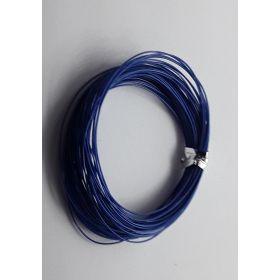 Bobine fil électrique 0,5mm bleu 10m