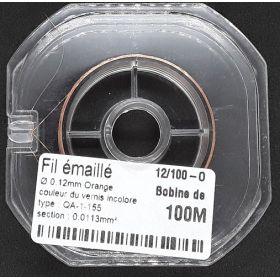 Bobine Fil Emaillé couleur doré 0,12 mm  100 m