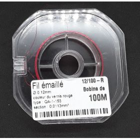 Bobine Fil Emaillé 0,12mm  100m