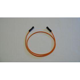 Connecteur Femelle/femelle fil orange