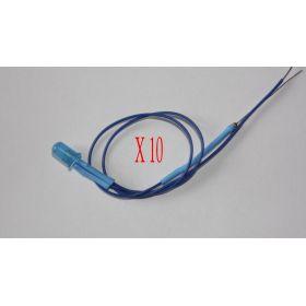 Led Clignotante 5mm Bleu diffusant   - Par sachet de 10
