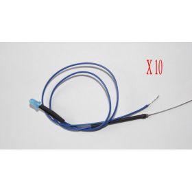 Led 3mm bleu diffusant clignotant - Par sachet de 10