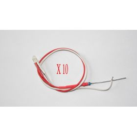 Led 3mm blanc/rouge clignotant  opaque - Par sachet de 10