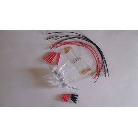 Led 10mm rouge à câbler - par sachet de 4