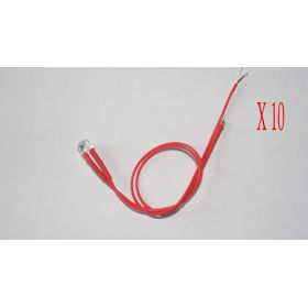 Led Grand Angle 5mm Rouge   - Par sachet de 10