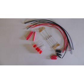 Led 5mm Rouge Diffusante Clignotante à Câbler - Par sachet de 4
