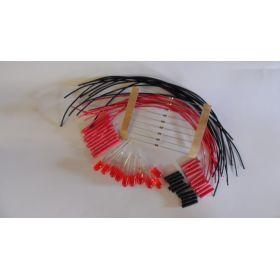 Led 5mm rouge diffusante clignotante à câbler - par sachet de 10