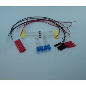 Led 5mm bleue diffusante clignotante à câbler - par sachet de 4