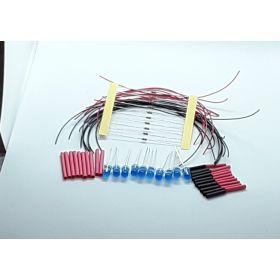 Led 5mm bleue diffusante clignotante à câbler - par sachet de 10