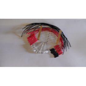 Led 5mm rouge/ bleu clignotante à câbler - par sachet de 10