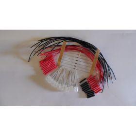 Led 5mm blanche/ rouge opaque clignotante à câbler - par sachet de 10