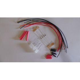 Led 5mm disco lent opaque clignotante à câbler - par sachet de 4