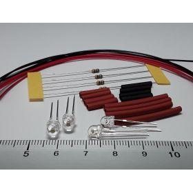Led grand angle 5mm rouge à câbler - par sachet de 4